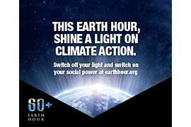 Plakat Earth Hour